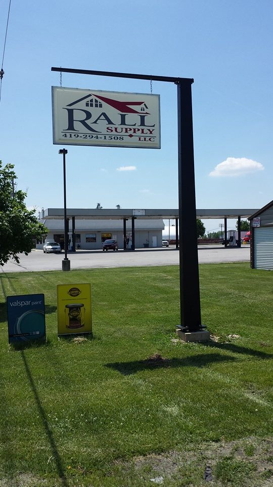 Rall Supply sign